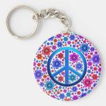 Signo de la paz del Hippie Llaveros Personalizados