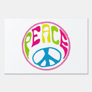 Signo de la paz del Hippie Señal