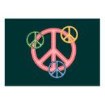 Signo de la paz del Hippie Tarjetas De Visita