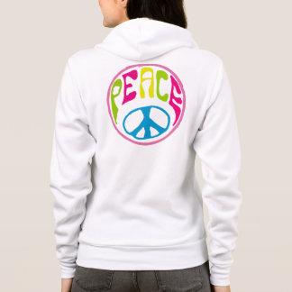 Signo de la paz del hippy sudadera