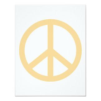 """Signo de la paz del melocotón invitación 4.25"""" x 5.5"""""""