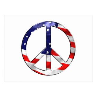 signo de la paz del merica postales