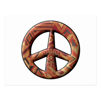 Signo de la paz del nativo americano tarjeta postal