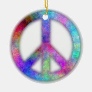 Signo de la paz del plasma adorno de navidad