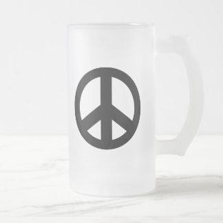 Signo de la paz del símbolo de paz taza