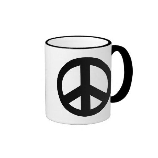 Signo de la paz del símbolo de paz tazas de café