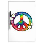 Signo de la paz del teñido anudado pizarra