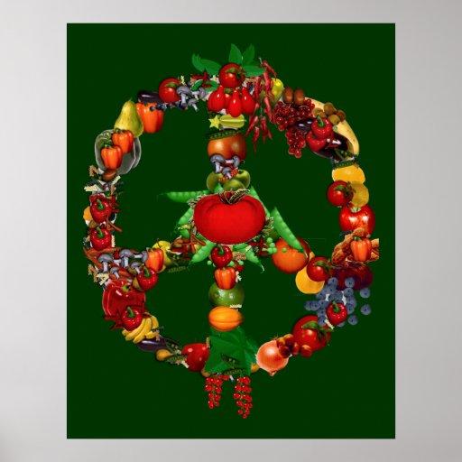 Signo de la paz del Veggie Posters