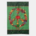 Signo de la paz del Veggie Toalla De Mano