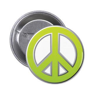Signo de la paz del vintage el | pin redondo de 2 pulgadas