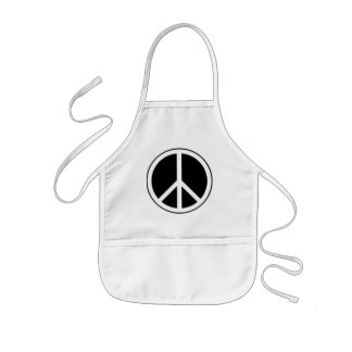 Signo de la paz delantal infantil