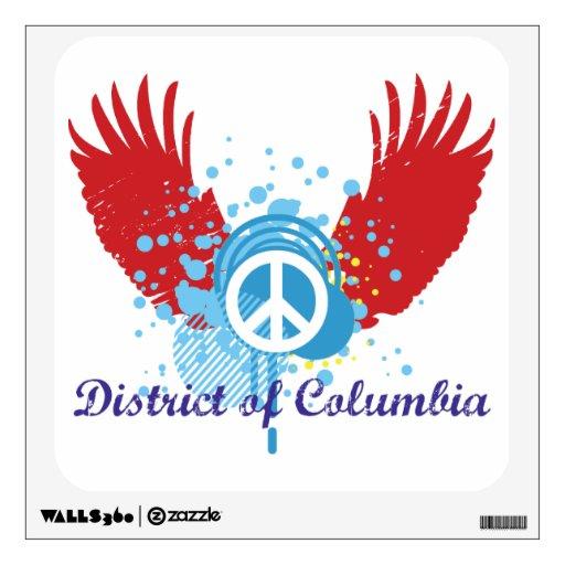 Signo de la paz - distrito de Columbia Vinilo Decorativo