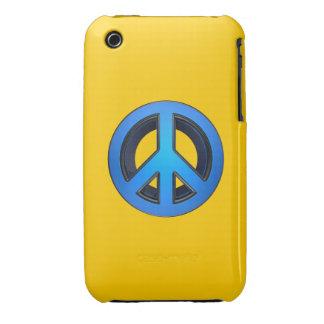 Signo de la paz en azul iPhone 3 protectores