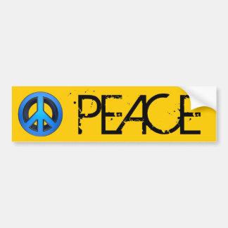 Signo de la paz en azul pegatina para auto