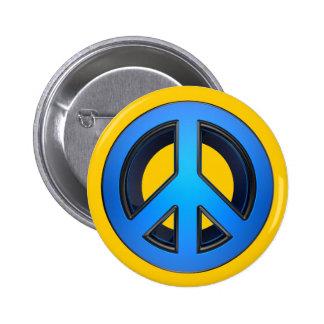 Signo de la paz en azul pins