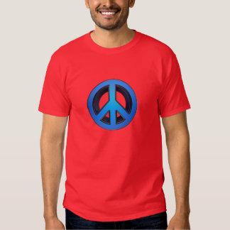 Signo de la paz en azul polera