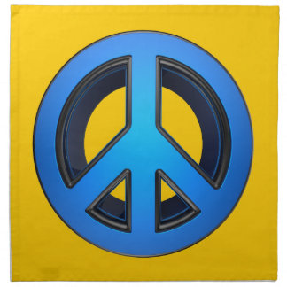 Signo de la paz en azul servilleta imprimida