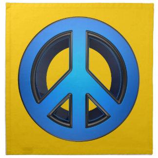 Signo de la paz en azul servilletas imprimidas