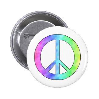 Signo de la paz en colores pastel pin redondo 5 cm