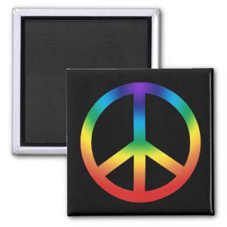 Signo de la paz en los colores de Chakra Imanes De Nevera