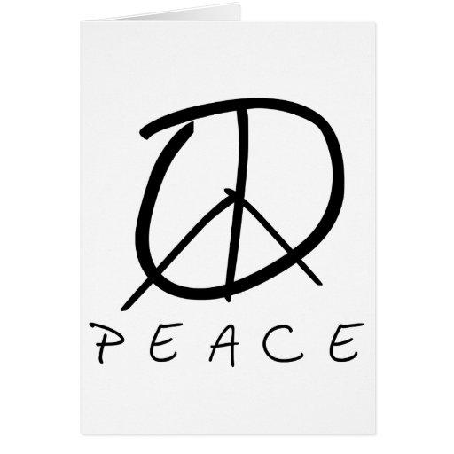 Signo de la paz: Escritura de la mano del brote Tarjetas