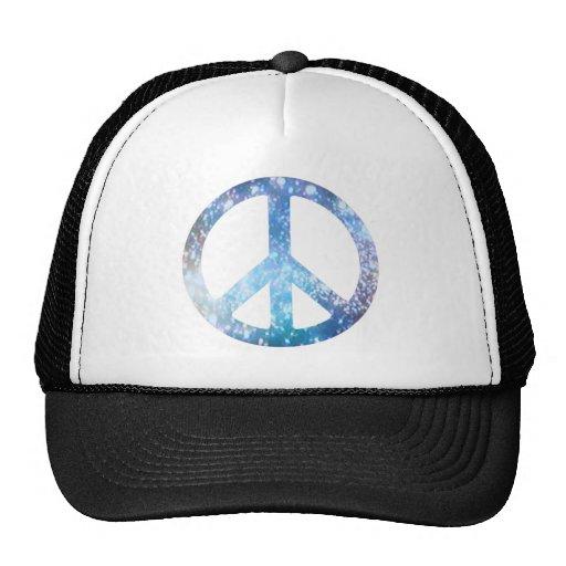 Signo de la paz estrellado gorros