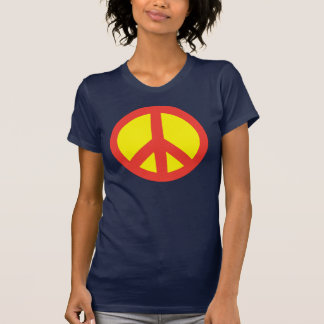 Signo de la paz estupendo camisetas