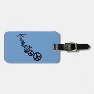 Signo de la paz etiquetas maleta
