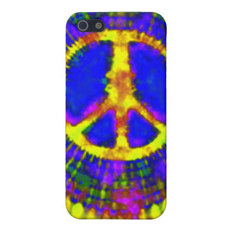 Signo de la paz fino psicodélico abstracto del iPhone 5 carcasa