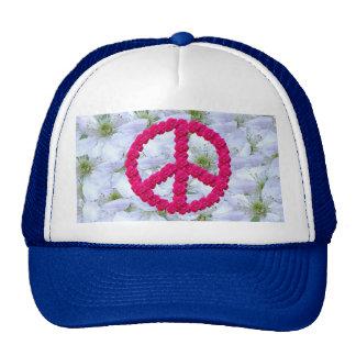 signo de la paz florecido gorro
