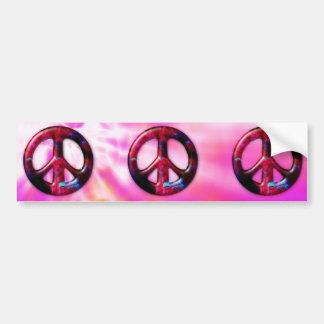 Signo de la paz fresco de la nebulosa del espacio  pegatina de parachoque
