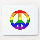 Signo de la paz gay alfombrilla de ratón