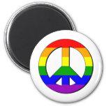 Signo de la paz gay imán