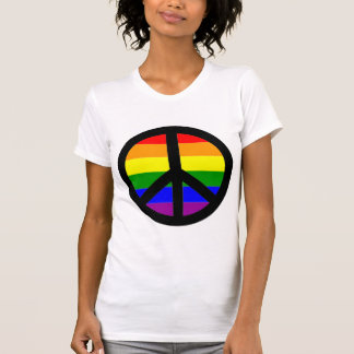 Signo de la paz gay tshirts