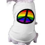 Signo de la paz gay ropa macota