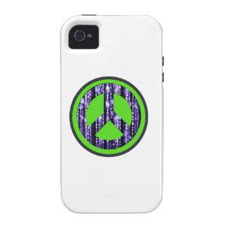 Signo de la paz gotas redondas vibe iPhone 4 carcasa