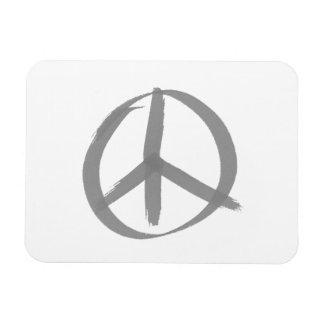 Signo de la paz gris imán de vinilo