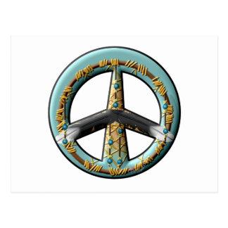 Signo de la paz ideal del colector postal