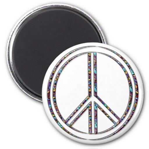 Signo de la paz imán para frigorífico