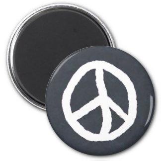 Signo de la paz imán redondo 5 cm