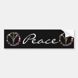 Signo de la paz invertido - como su inventor quiso pegatina para auto