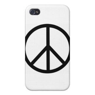 Signo de la paz iPhone 4 fundas