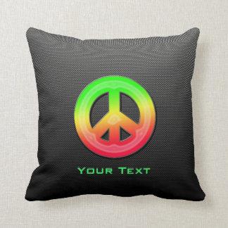Signo de la paz liso almohadas