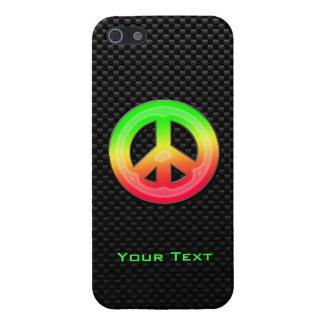 Signo de la paz liso iPhone 5 coberturas