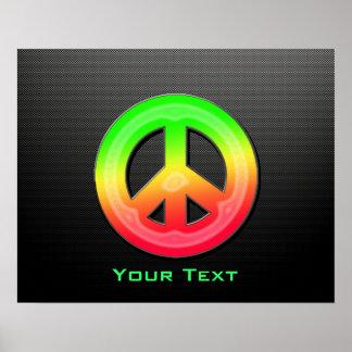 Signo de la paz liso póster