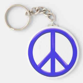 Signo de la paz llavero redondo tipo pin
