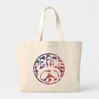 Signo de la paz maravilloso bolsas