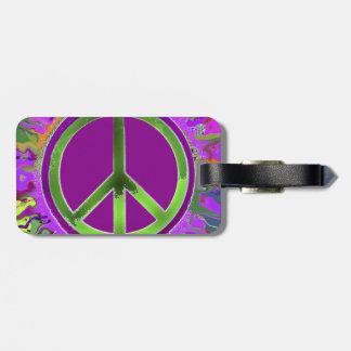 Signo de la paz maravilloso ESTUPENDO Etiqueta De Maleta