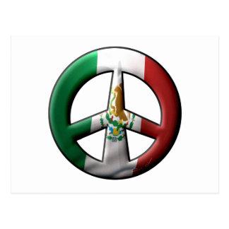 Signo de la paz mexicano tarjeta postal
