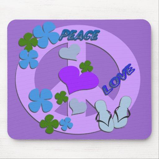 Signo de la paz Mousepad Tapetes De Ratón